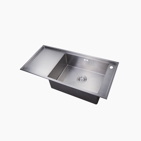Topmount Single Bowl Kitchen Sink With Drainboard -ARY10047H