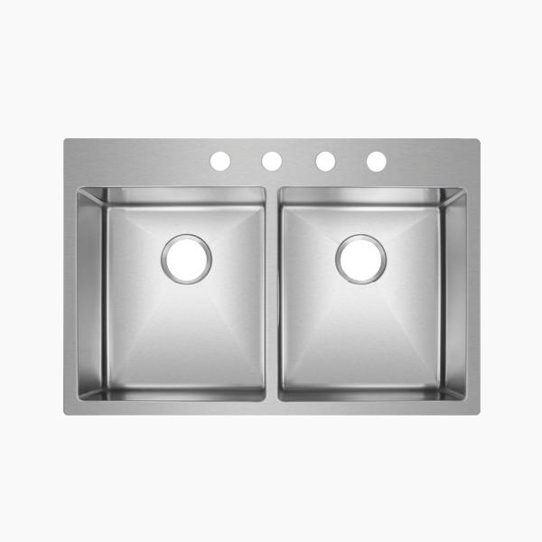 Topmount Double Bowl Sink -BR3322D