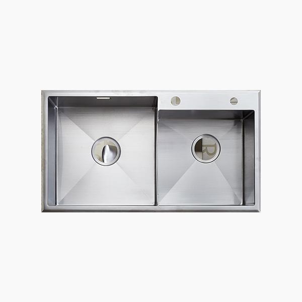 Topmount Double Bowl Sink -BR7645TX