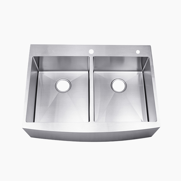 Double Bowl Apron Sink-BR8463TC