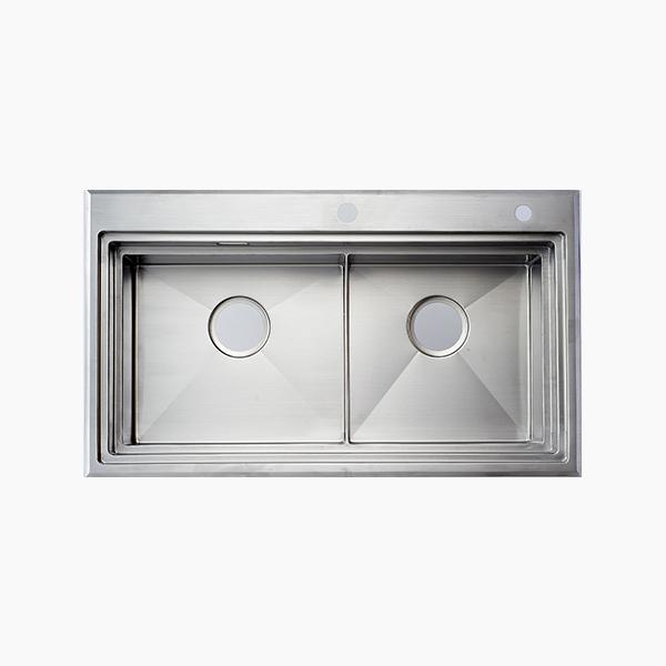 Topmount Double Bowl Sink -BR8650F2X
