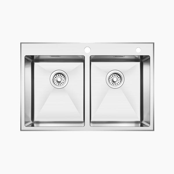 Topmount Double Bowl Sink -BR8650X