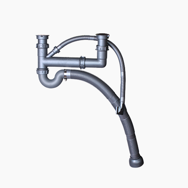 Double Bowl Sink Drainpipes-CA-BP001